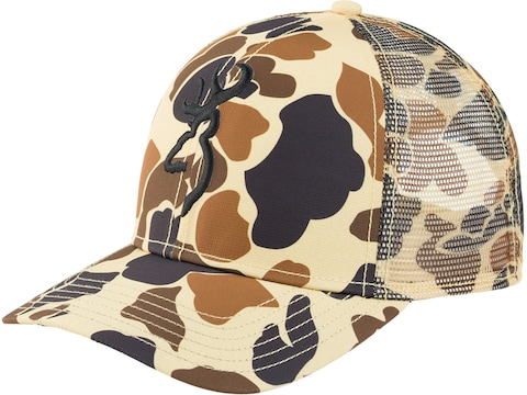 Browning Men's Tradition Mesh Back Cap Vintage Tan One Size Fits Most
