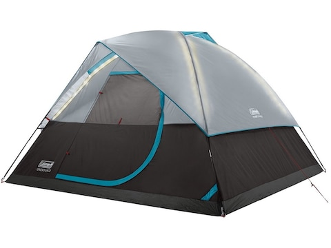 Coleman ONESOURCE Dome Tent with LED Lighting Rechargeable Li-Ion Battery Black/Gray