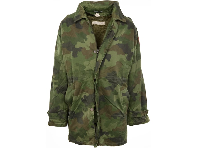 Military Surplus Serbian Parka with Liner Grade 2 Camo Large
