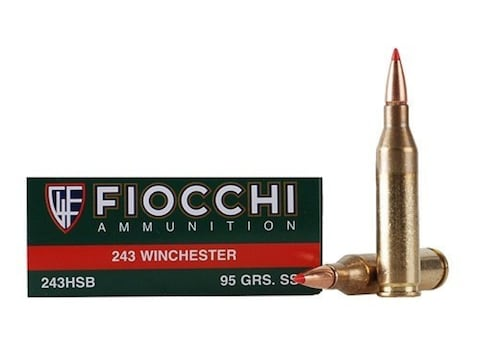 Fiocchi Extrema Ammunition 243 Winchester 95 Grain Hornady SST Box of 20
