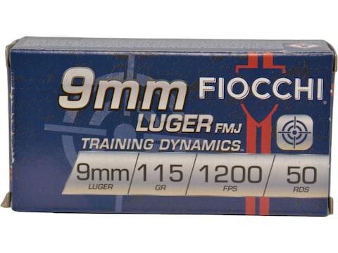 Fiocchi Range Dynamics Ammunition 9mm Luger 115 Grain Full Metal Jacket