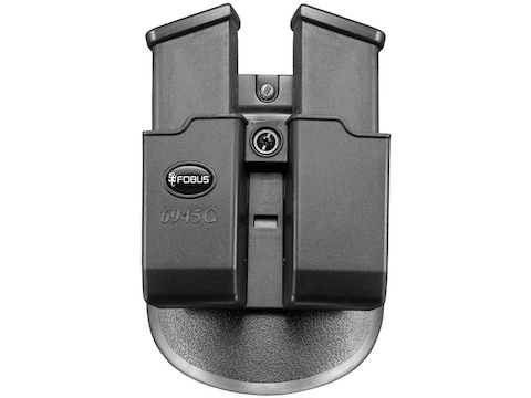 Fobus Paddle Double Magazine Pouch Double-Stack Ambidextrous Polymer Black
