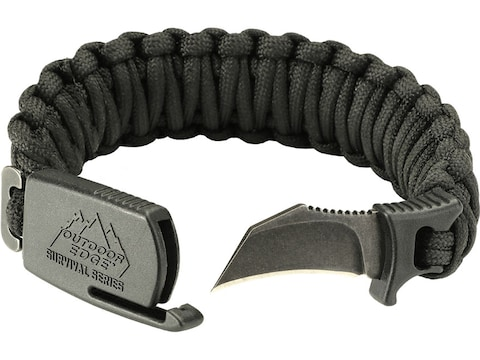 "Outdoor Edge Para-Claw Fixed Blade Knife Paracord Bracelet 1.5"" Hawkbill 8Cr13MoV Stain..."