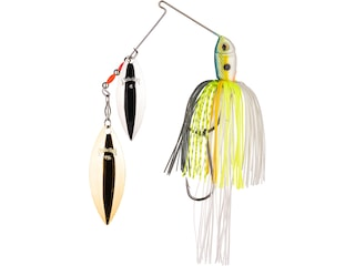 Strike King Premier Plus Double Willow Spinnerbait 1/2oz Chartreuse Sexy Shad Silver/Gold