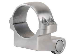 "Ruger 1"" Extended Front Ring Mount 4KO Silver Medium"