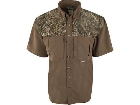 Drake Men's EST Two-Tone Vented Wingshooter's Short Sleeve Shirt