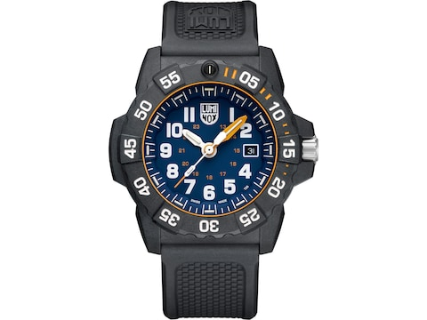 Luminox Navy Seal Foundation Watch Carbon Compound Case/Rubber Band Blue/Gray
