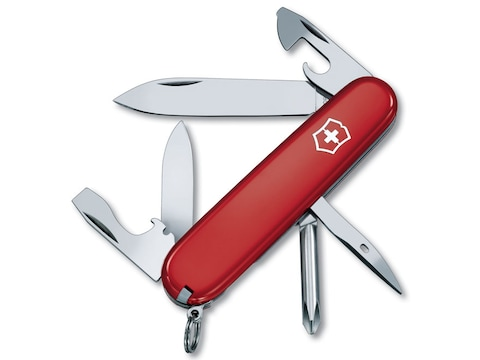 Victorinox Swiss Army Tinker Folding Pocket Knife 10 Function Stainless Steel Blade Pol...
