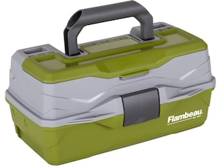 Flambeau Classic 1-Tray Hard Sided Tackle Box Green/Gray
