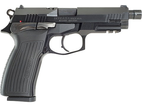 "Bersa TPR Pistol 9mm Luger 5"" Threaded Barrel 17-Round Black"