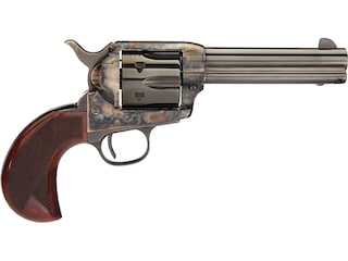 "Taylor's & Co 1873 Cattleman Single Action Revolver 357 Magnum 3.5"" Blued Barrel Case Hardened Steel Frame Birdshead Checkered Walnut Grips 6 Round"