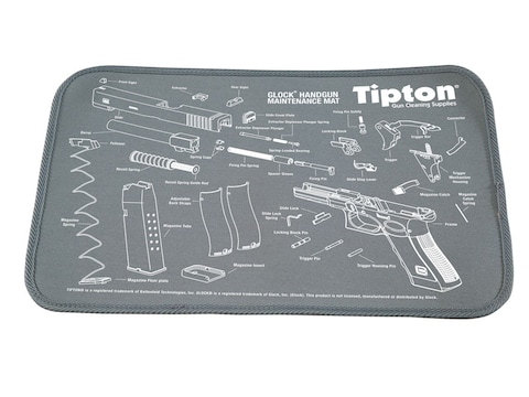 "Tipton Gun Cleaning and Maintenance Mat 11"" x 17"" Gray"