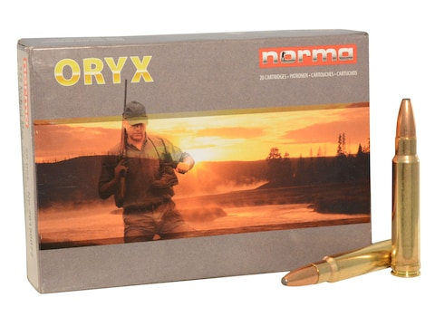 Norma American PH Ammunition 358 Norma Magnum 250 Grain Oryx Protected Point Box of 20