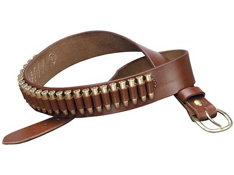 Triple K 100 Heavy Saddle Leather Pistol Cartridge Belt Walnut Oil