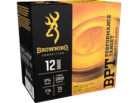 "Browning BPT Heavy Target Ammunition 12 Gauge 2-3/4"" 1-1/8 oz #7-1/2 Shot Box of 25"