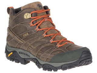 Merrell Moab 2 Prime Mid Waterproof Hiking Boots Leather Canteen Men's 10.5 D
