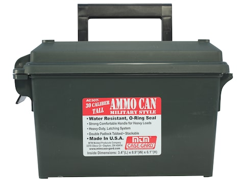 MTM Ammo Can Tall 30 Caliber Polymer