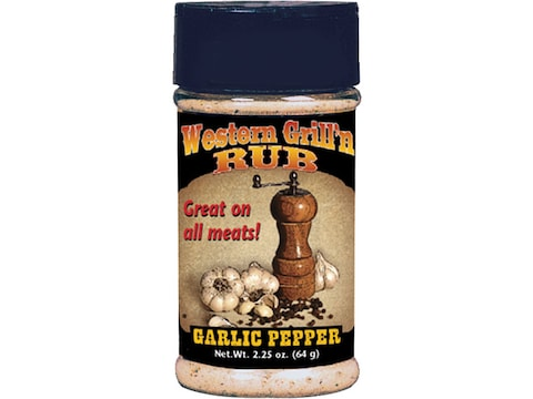 Hi Mountain Western Grill 'N Rub Garlic Pepper Seasoning 2.25 oz