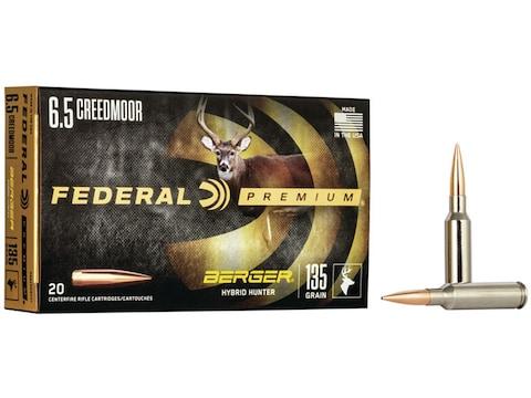 Federal Premium Ammunition 6.5 Creedmoor 135 Grain Berger Hybrid Hunter