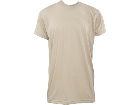 Military Surplus Crew T-Shirt Grade 1 Short Sleeve Polyester 3-Pack Sand Large