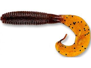 Yamamoto 4'' Single Tail Grub Dk Pumpkin W/Lg Blk