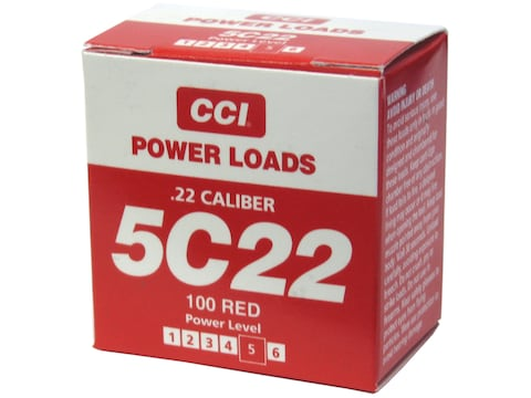 D.T. Systems 22 Caliber Blank Heavy Powerloads 100-120 Yard Range Red Pack of 100