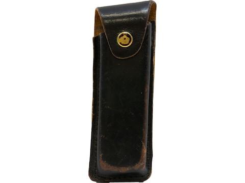 Military Surplus German Police Belt Sheath Grade 2 Leather Black