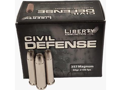 Liberty Civil Defense Ammunition 357 Magnum 50 Grain Fragmenting Hollow Point Lead-Free...