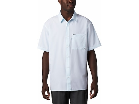 Columbia Men's PFG Zero Rules Button-Up Short Sleeve Shirt Polyester
