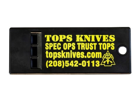 TOPS Knives Survival Whistle Polymer Black Pack of 5