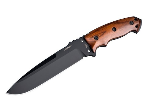 """Hogue EX-F01 Fixed Blade Knife 7"""" Black Drop Point A2 Tool Steel Blade Cocobolo Hardwoo..."""