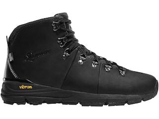 """Danner Mountain 600 4.5"""" Hiking Boots Full Grain Leather Black Men's 10.5 D"""