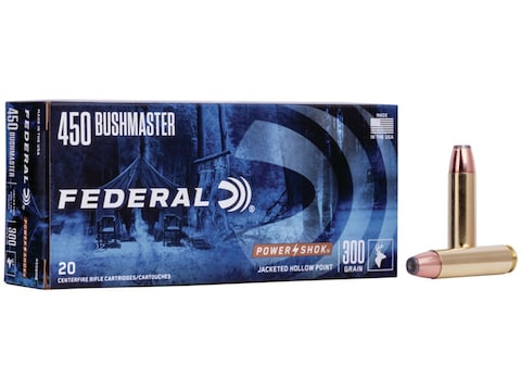 Federal Power-Shok Ammunition 450 Bushmaster 300 Grain Jacketed Hollow Point