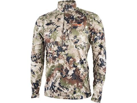 Sitka Gear Men's Core Midweight Zip Long Sleeve Shirt Polyester