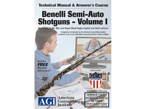 """American Gunsmithing Institute (AGI) Technical Manual & Armorer's Course Video """"Benelli..."""