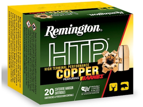 Remington HTP Copper Ammunition 44 Remington Magnum 225 Grain Barnes XPB Hollow Point L...