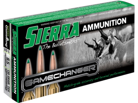 Sierra GameChanger Ammunition 6.5 Creedmoor 130 Grain Tipped GameKing Box of 20