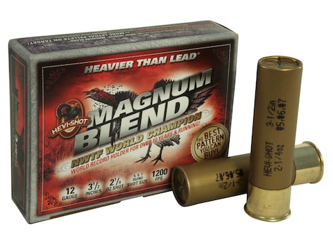 "Hevi-Shot Magnum Blend Turkey Ammunition 12 Gauge 3-1/2"" 2-1/4 oz #5, #6 and #7 Hevi-Sh..."