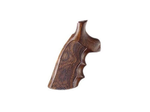 Hogue Fancy Hardwood Conversion Grips with Finger Grooves S&W K, L-Frame Round to Squar...