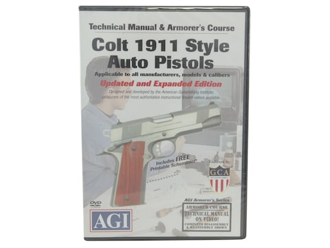 "American Gunsmithing Institute (AGI) Technical Manual & Armorer's Course Video ""Colt 19..."