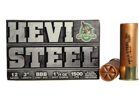 "Hevi-Shot Hevi-Steel Waterfowl Ammunition 12 Gauge 3"" 1-1/4 oz BBB Non-Toxic Shot"
