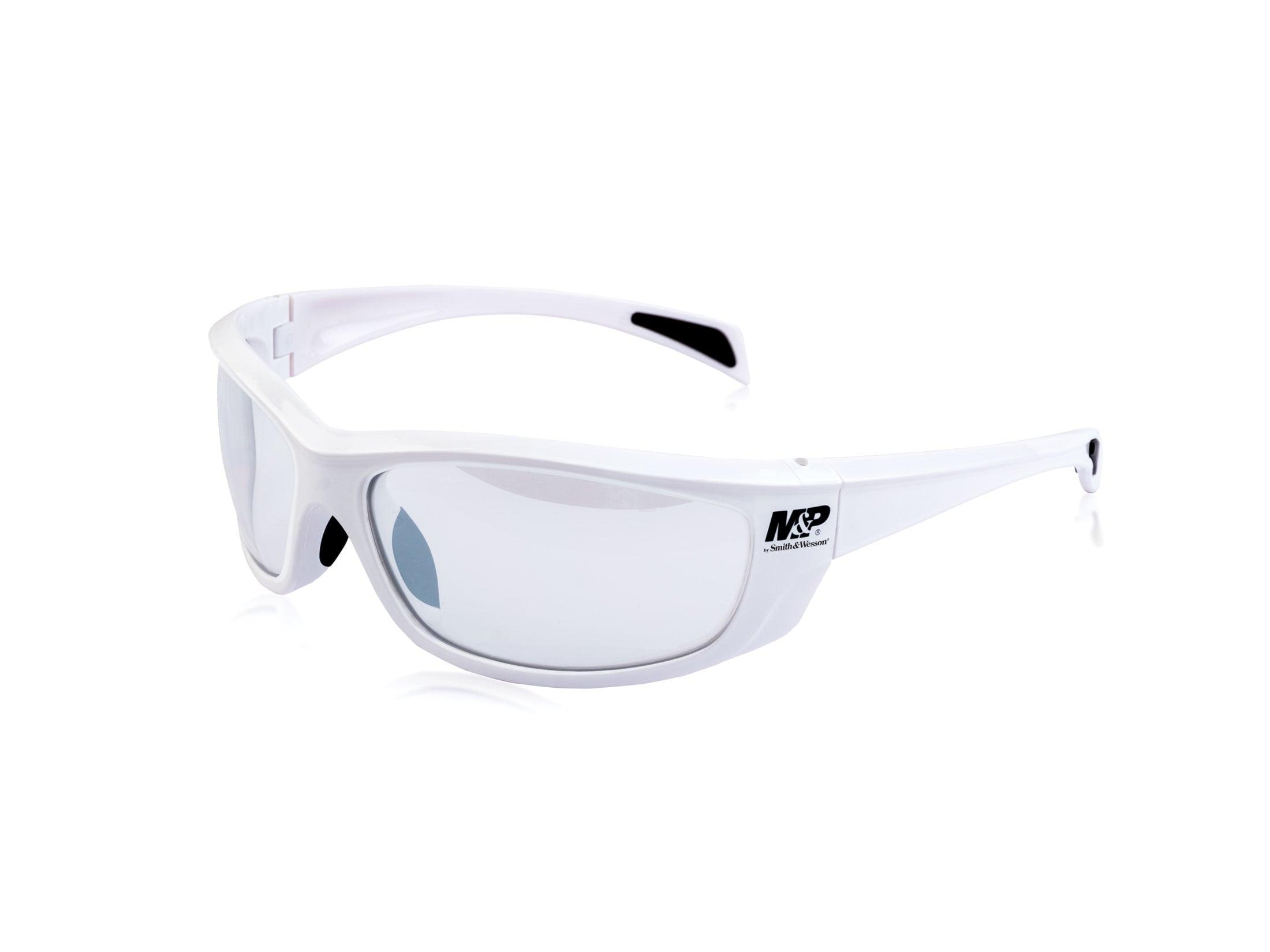 Smith & Wesson M&P Whitehawk Shooting Glasses White Frame Blue Mirror