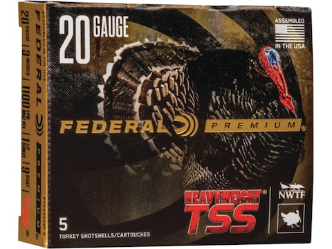 "Federal Premium Heavyweight TSS Turkey Ammunition 20 Gauge 3"" 1-1/2 oz Non-Toxic Tungst..."