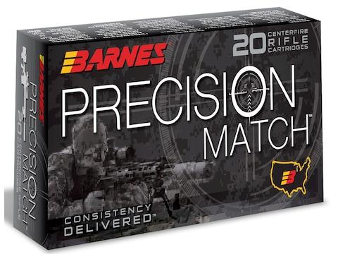 Barnes Precision Match Ammunition 300 AAC Blackout 125 Grain Open Tip Match Box of 20