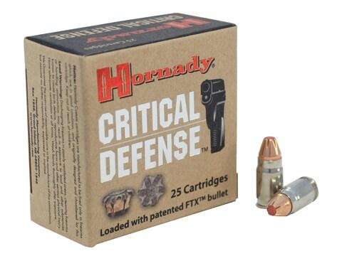 Hornady Critical Defense Ammunition 32 North American Arms (NAA) 80 Grain FTX Box of 25