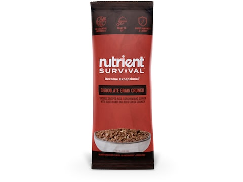 Nutrient Survival Chocolate Grain Crunch Freeze Dried Food