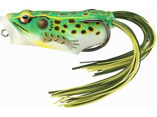 "LIVETARGET Hollow Body Frog Popper 2"" Topwater Floro Green/Yellow"