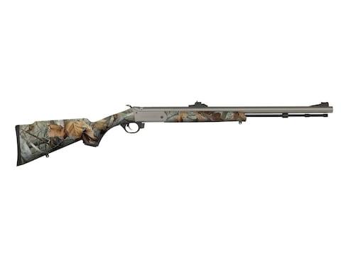 "Traditions Buckstalker G-2 Muzzleloading Rifle 50 Caliber 24"" Cerakote Barrel Synthetic..."