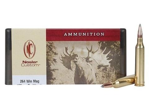 Nosler Custom Ammunition 264 Winchester Magnum 125 Grain Partition Spitzer Box of 20