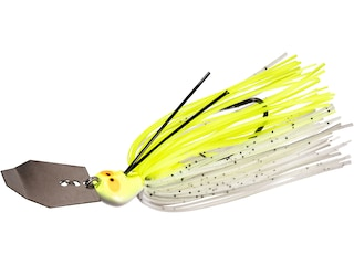 Z-Man Crosseyez Chatterbait Bladed Jig Chartreuse/White 3/8 oz